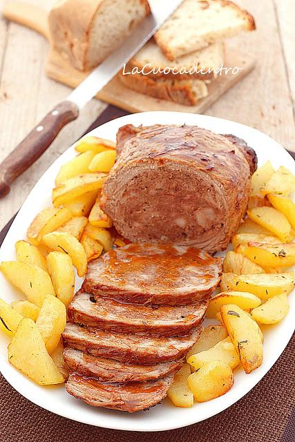 Spinacino ripieno con patate al forno alle erbe aromatiche