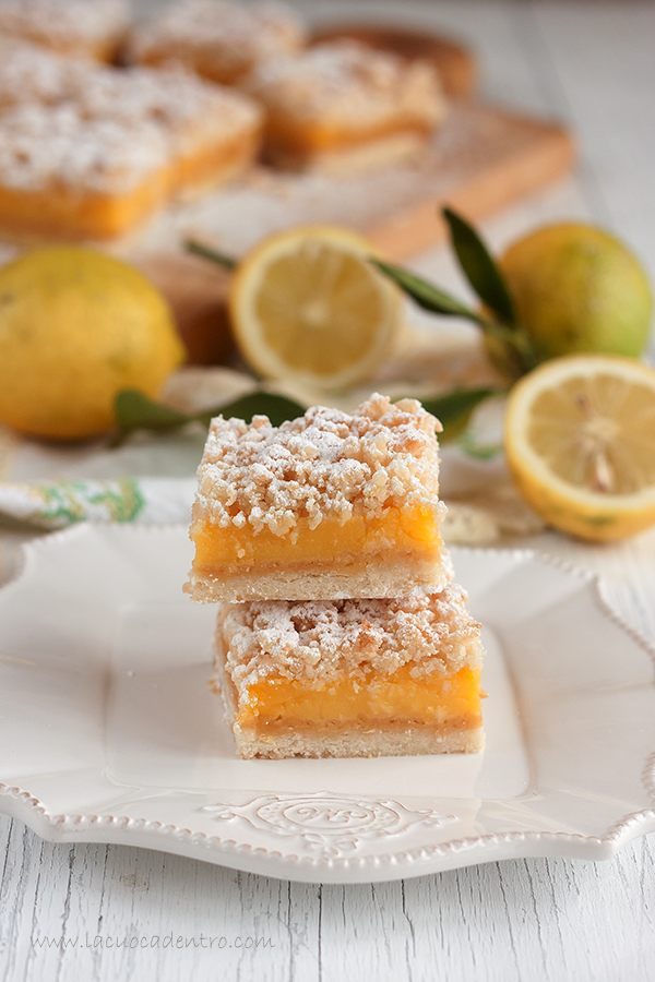 lemon crumbe bars