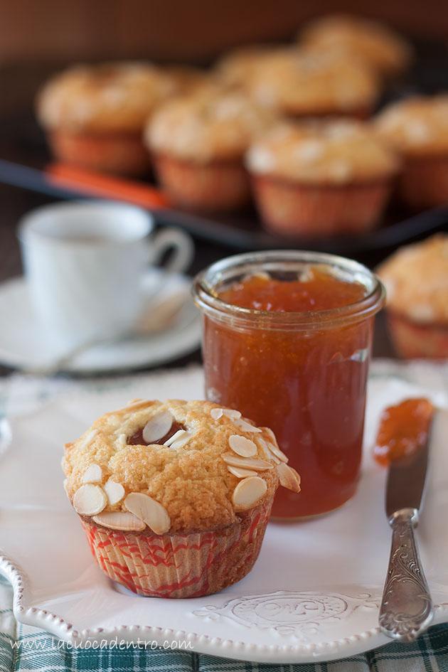 muffin albicocche e mandorle