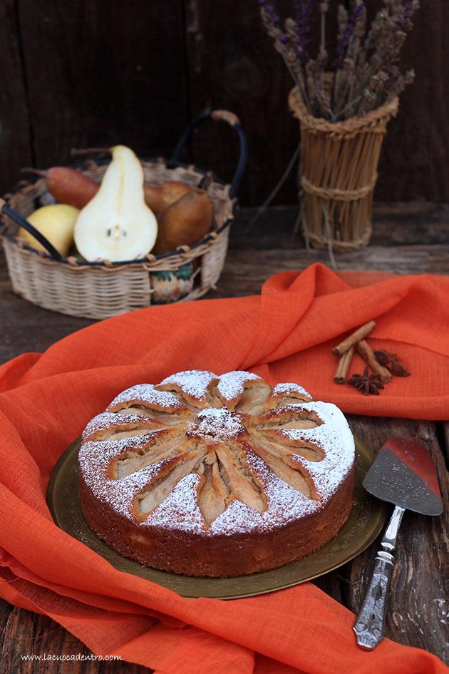 torta speziata di pere