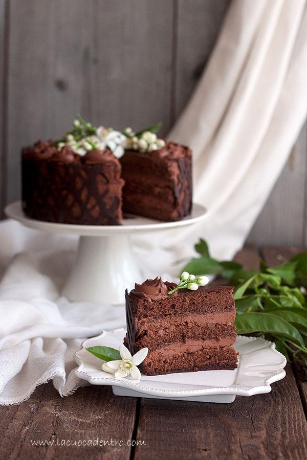 torta al cioccolato fiori di zagara