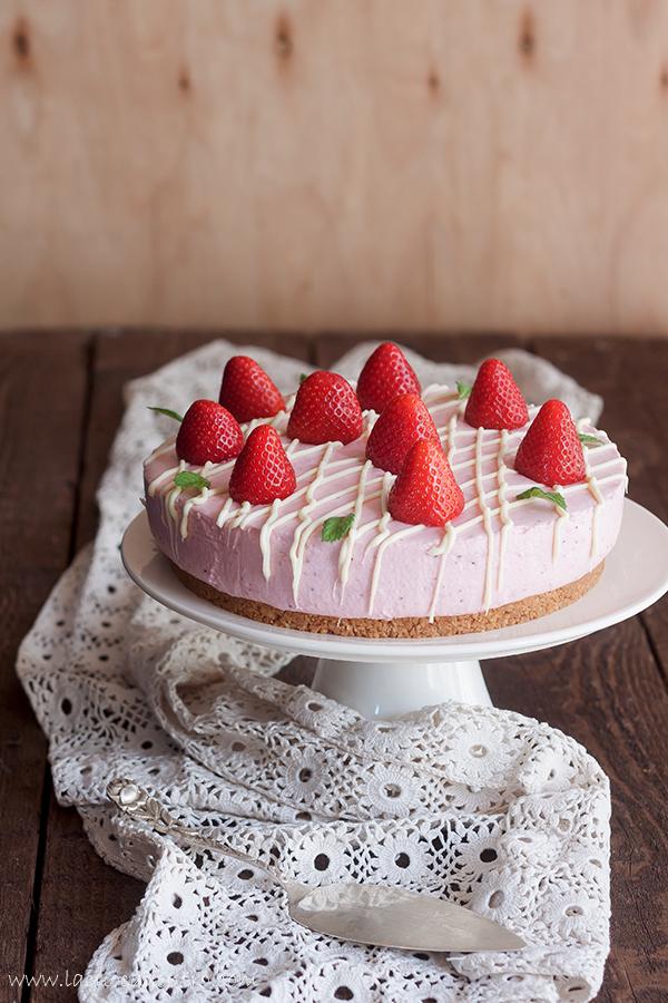 cheesecake fragole cioccolato bianco